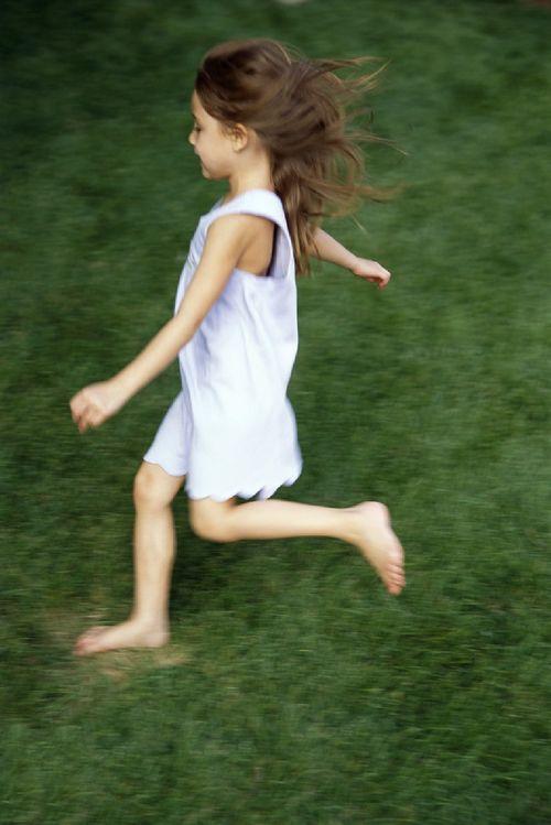 Girl Skipping